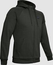 $245 Under Armour Men's Green Long-Sleeve Full-Zip Logo Hoodie Sweater Size 2Xl