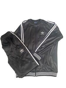 Adidas Men's Adi Firebird Tracksuit - Grey L-XL
