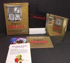 Nintendo NES The Legend of Zelda Near Complete Box + Instructions + Case 1987