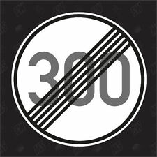 300 km/h abrogé - Tuning Sticker, Voiture Autocollants Marrants, Autocollant