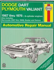 DODGE DART & PLYMOUTH VALIANT / BARRACUDA 6-CYL 1967-1976 OWNERS REPAIR MANUAL
