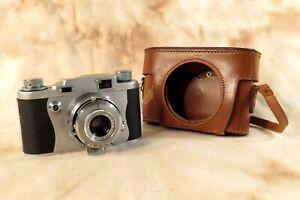 RARE DOLCA 35 II f/3.5 50mm TOKYO-KOKEN NIPOL LENS JAPAN 35mm CAMERA & CASE