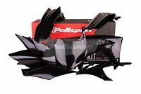 Honda CRF 450 2013 - 2014 - 2015 - 2016 Polisport Plastics Kit Set Black 90562