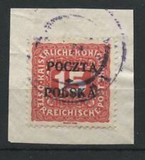 Polen Fischer Porto Nr 3 Briefstück  krakauer Ausgabe Geprüft Wiatrowski PZF