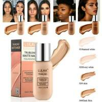 LULAA 35ML Matte Oil Control Concealer Liquid Foundation Cream Makeup Tool
