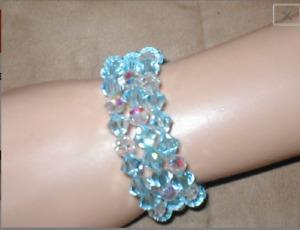 Swarovski Light Blue Crystal Bracelet