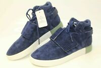 Adidas Tubular Invader Strap BB5041 Mens  Blue Leather Fashion Sneakers Shoes
