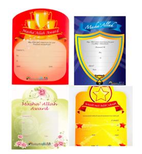 ISLAMIC CERTIFICATES-Award Reward Certificates Achievement Best Gift Kids