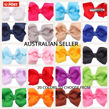 "3""  Hair Clip Bow Alligator Baby Toddler Girl Kids Grosgrain ribbon - NEW"