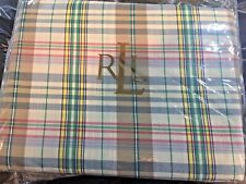 "Ralph Lauren Boathouse Madras Plaid Queen Bed Skirt 60"" x 80"" Nip"