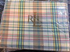 "Ralph Lauren Boathouse Madras Plaid Queen Bed Skirt 60"" x 80""  NIP"