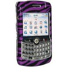 AMZER Zebra Print Purple Snap On Case - BlackBerry 8300