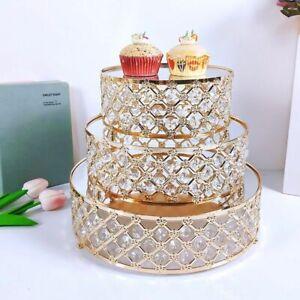 Mirror Metal Gold Stand Round Cake Cupcake Wedding Birthday Party Dessert Displa