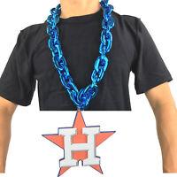 New MLB Houston Astros BLUE Fan Chain Necklace Foam Magnet - 2 in 1