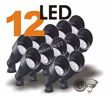 12 LED Landscape Yard Spot Light  Black Cast Aluminum MR16 12V Low Voltage