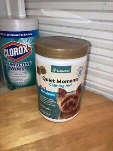 NaturVet Quiet Moments Calming Aid Dog Soft Chews 180 Expires 3/23