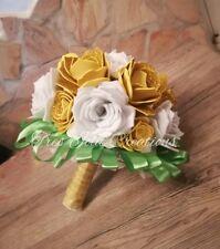 Bouquet sposa  nozze matrimonio damigella d'onore  artificiale fiori