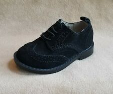 New Toddler Boys Shoe Size 7  BABY GAP Black Suede Wingtip Oxford Dress Shoes