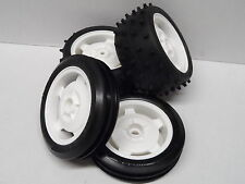 Tamiya Off Road Front+Rear 2WD Buggy Wheels/Tyres Set For DT02 Sand/Street Rover
