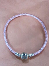AUTHENTIC PANDORA #509705CMP-S2 PINK LEATHER MEDIUM SINGLE BRACELET PANDORA LOCK