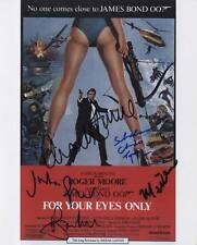 Roger Moore Cast Signed 10x8 Photo - For Your Eyes Only