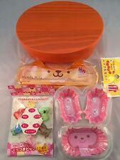 NEW!Japanese BENTO Lunch Box Set  Wood  WAPPA  Orange color Chopsticks,Picks,Cup