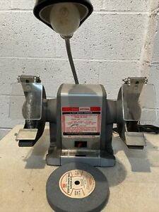 "Craftsman Bench Block Grinder 6"" 3580RPM 1/3HP 397.19391 With Gooseneck Lamp"