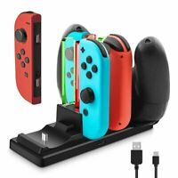 Controller Charger Dock for Nintendo Switch 6 in 1 Charging Station Stand New