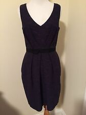 NWT Shoshanna Mad Men Style Purple Black Tweed Dress Size 4 New $378