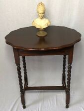 1 Fine Antique Jacobean Style Oak Barley Twist Oval Occasional Hall Side Table