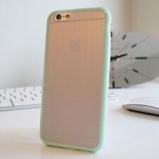 Delgado TPU parachoques caso claro rígida posterior para iPhone 6 5c 5s SE 4s Gel Funda De Silicona