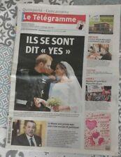 Mariage du Prince Harry & Meghan Markle / Journal le Télégramme du 20-05-2018