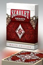 Ornate White Edition Playing Cards (Scarlet) poker juego de naipes