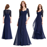 Lace Chiffon Formal Evening Gown Long Maxi Wedding Party Cocktail Prom Dress
