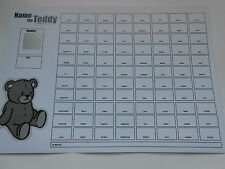 NAME THE TEDDY SCRATCH CARDS 88 SPACE SET OF 5 (B&W) = EASY WAY TO RAISE £240