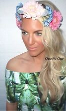 Flower Crown Sea Shell Beach Crochet Lace Hair Head Band Choochie Hippy Mermaid