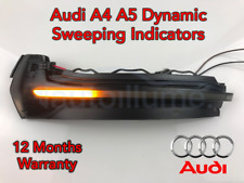 Audi A5 A4 RS5 Sweeping Dynamic LED Wing Door Mirror Indicator Light Lamp Smoked