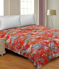 King Indien Quilt Cotton Quilts Handmade Throw Blanket Bedding Bedspread Kantha