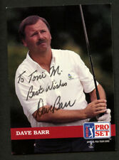 Dave Barr #67 signed autograph auto 1992 Pro Set Golf Trading Card