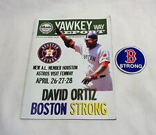 April 2013 Yawkey Way Report Red Sox Program Boston Strong David Ortiz Cover