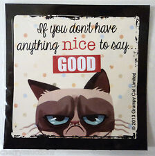 b If you don't have anything nice to say GOOD GRUMPY CAT REFRIGERATOR MAGNET 3""