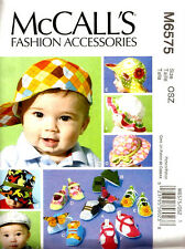 Reduced!!  McCall's 6575 McCall's Infants' Hats and Soft Shoes Pattern