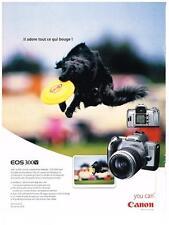 PUBLICITE ADVERTISING  2003 CANON  appareil photo EOS 300V