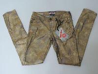 Hot Kiss Juniors Purple Gold Metallic Print Skinny Lily Jeans Size 1 , 3 , or 7