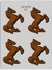 "3"" HORSE CHOCOLATE CANDY MOLD Cowboy Horses Western Soap Crafts"