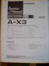 Pioneer Service Manual~A-X3 Stereo Amplifier Amp