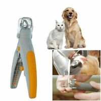 Pet Nail Clipper Cutter Trimmer Illuminate LED Light Great for Cats Dogs Cat Dog