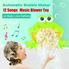 Baby Kids Automatic Bubble Maker Machine Music Bath Shower Frog Toy Gift