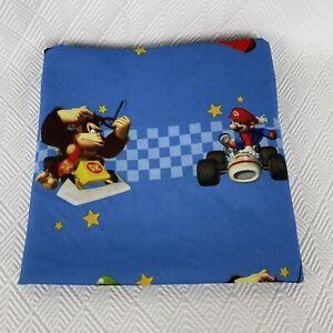 "Nintendo 2010 Super Mario Kart DS Twin Flat Single Bed Sheet Blue 64"" x 92"""