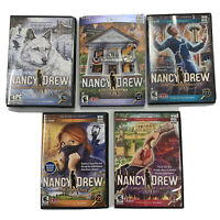 Nancy Drew DVD-ROM 5 Game Lot Computer Games for PC Mac Her Interactive